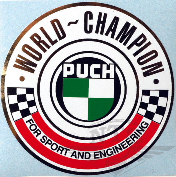 Puch world champion sticker 90 mm