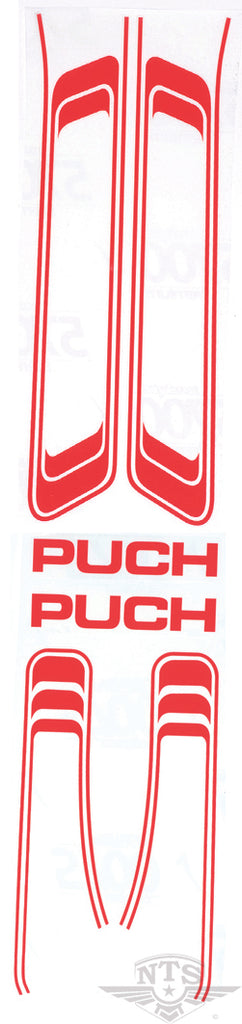 Puch Maxi stickerset wit
