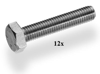 bout zeskant m8x80mm 12pcs