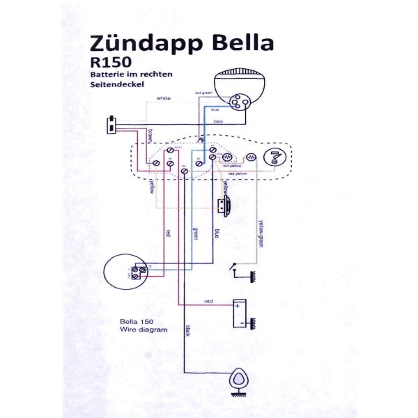 Zundapp kabelboom bella r150