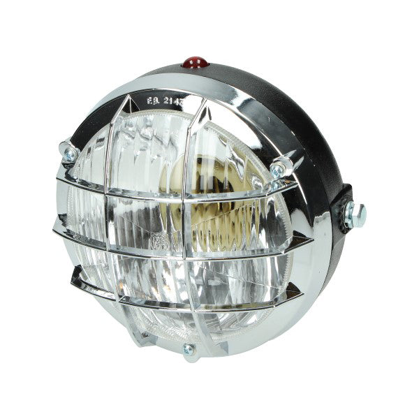puch maxi koplamp rond + rooster a3/a35/maxi chroom bosatta f107