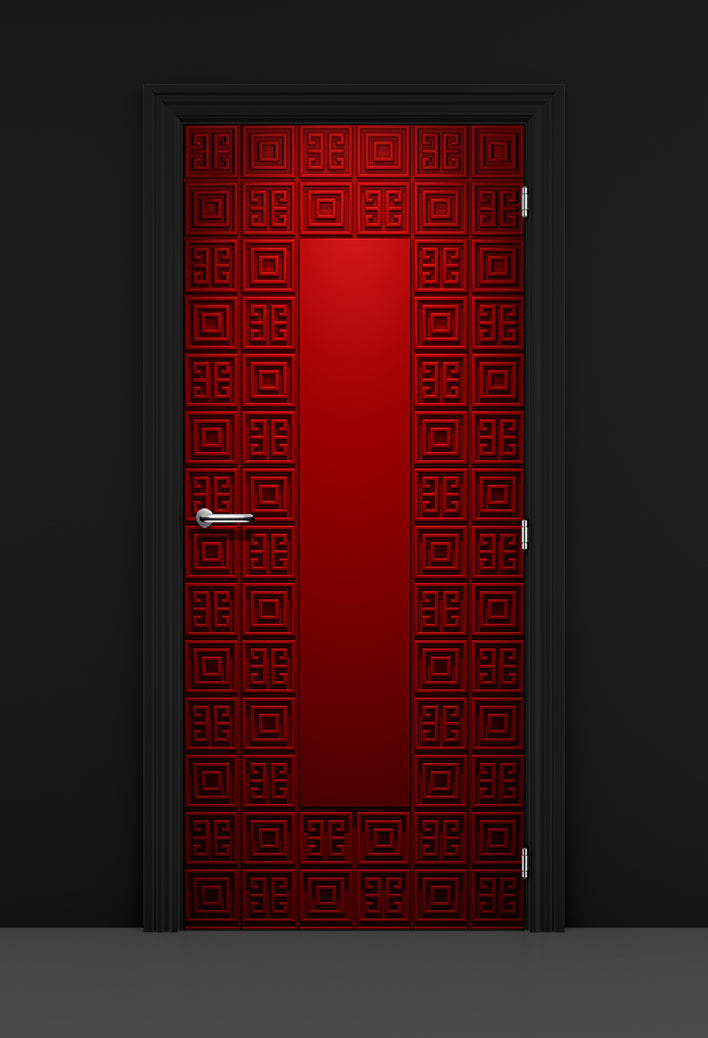 Ornate Geometric Wine Cellar Door | Secret Door | Game room Door | Bar Door