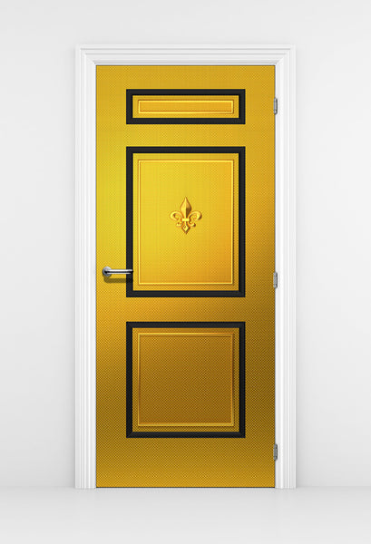 Golden Door Wallpaper - Fleur De Lis
