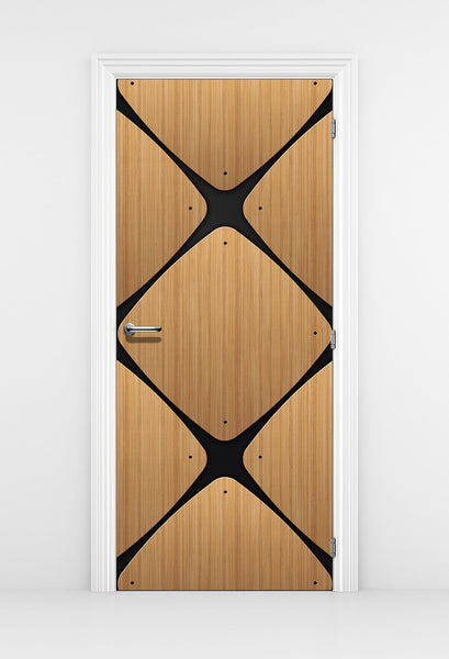 Retro Modern Door Wallpaper Design