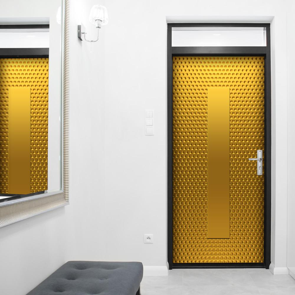 Brilliant Shiny Gold Walk-In Closet Door - Gold Door Wallpaper