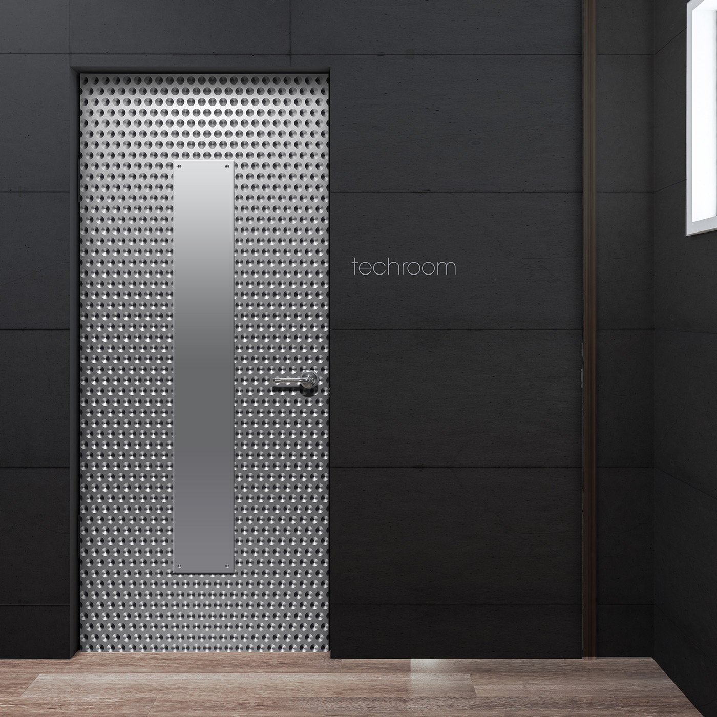 Silver dot Pattern Techroom Door wallpaper