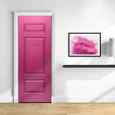 Room With Pink Door Wallpaper Mural - Princess Door | Doortouch