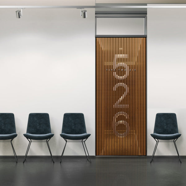 3D Business Door Number Signage Wallpaper