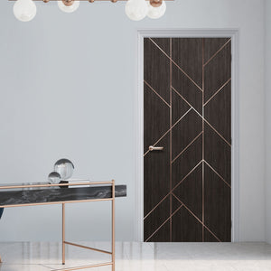 Geometric Modern Lines Door Mural Wallpaper