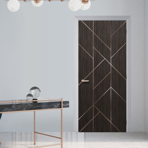 Geometric Modern Lines Door Mural Wallpaper - DoorTouch