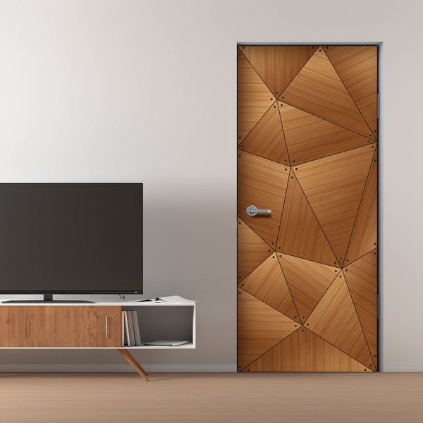 CocoBolo Geometric Door Mural - Door Sticker | DoorTouch
