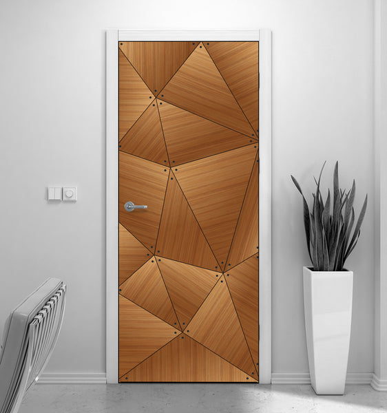CocoBolo Geometric Door Mural - Door Wallpaper | DoorTouch