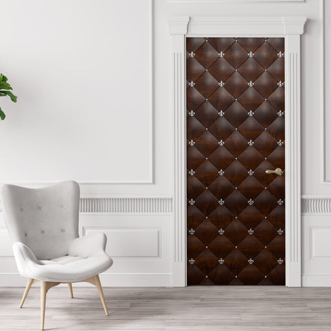 Mahogany Door Wallpaper Mural - DoorTouch