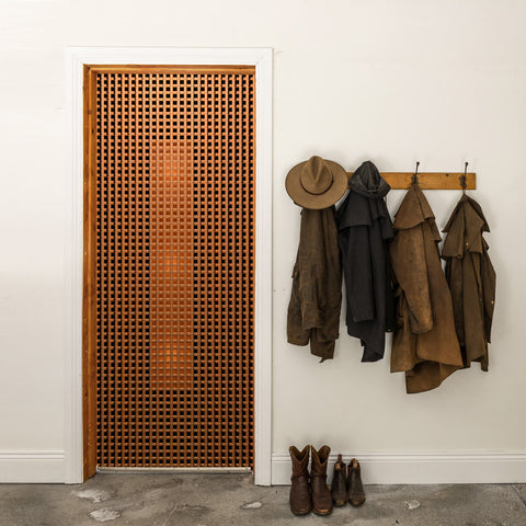 Craftsman Style Storage Door Wallpaper - DoorTouch