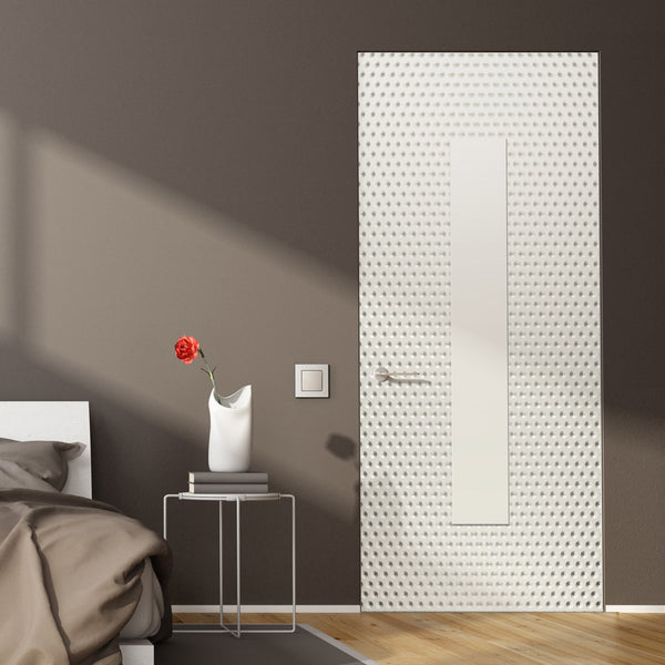 White Pattern Bedroom Door wallpaper - DoorTouch