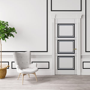 Black & White Door Wallpaper Design - DoorTouch