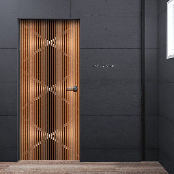 Modern See through Door Wallpaper - Private room Door | Doortouch