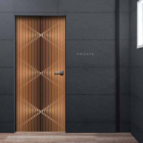 Modern See through Door Wallpaper - DoorTouch