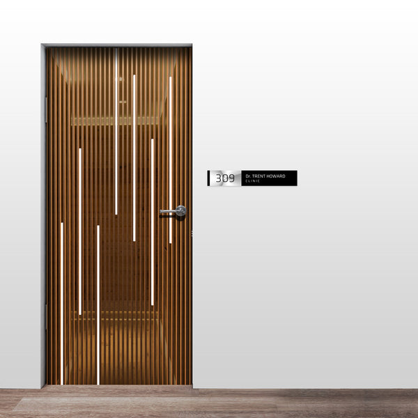 3D Business Door Wallpaper - Clinic Door wallpaper - Law Firm Door Mural