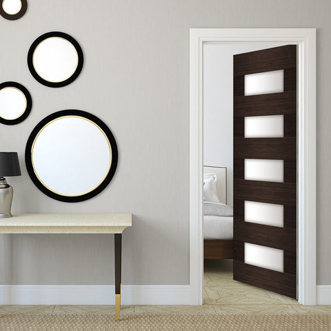 Mid Century Modern door Wallpaper - DoorTouch