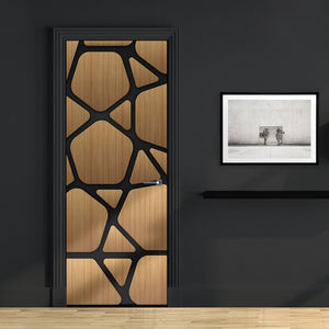 Futuristic Wood Door Mural design