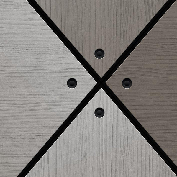Grey Wood Door Diamond Panels | DoorTouch