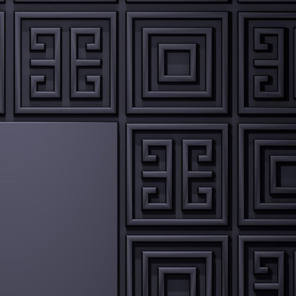 Geometric Black Pattern Door | DoorTouch