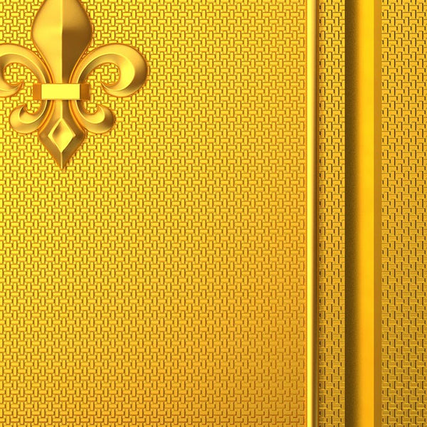 Gold Door Mural Fleur de lis - Door Sticker | DoorTouch