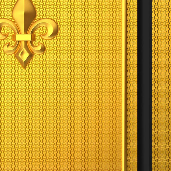 Chic Gold Door Wallpaper Fleur de lis
