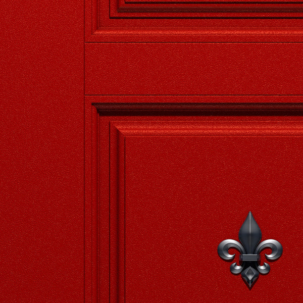 Red Door Wallpaper - Fleur de lis logo | DoorTouch
