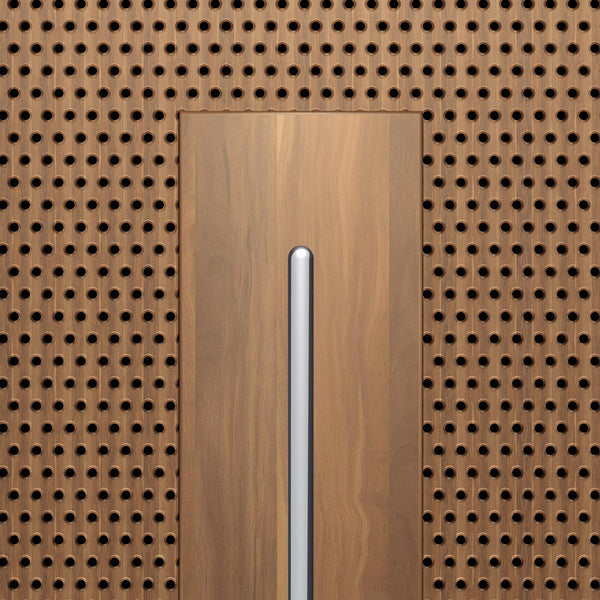 Modern Walnut Door Wallpaper with dot Pattern