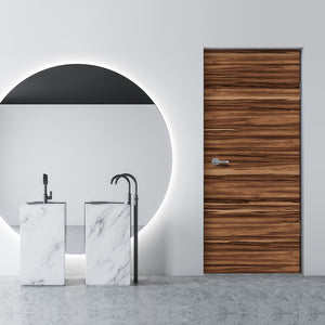 Caribbean Natural Walnut Door Mural