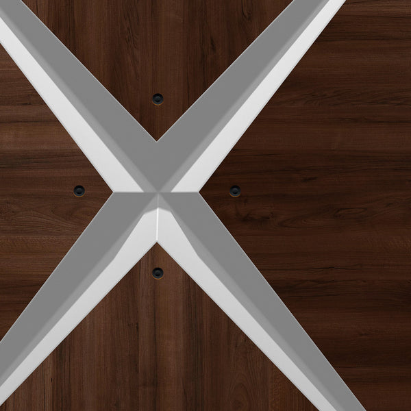 Retro Modern Dark Wood Door Mural - DoorTouch