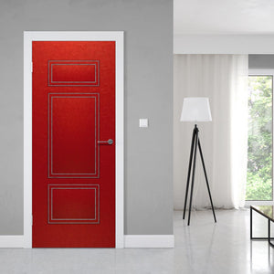 Upholstered Red Leather Door Wallpaper - Fashionable modern door | Doortouch