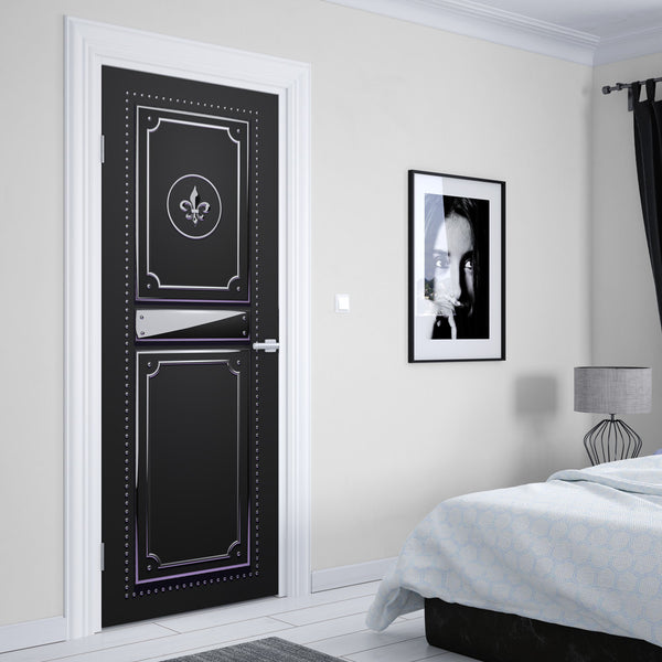 Black Fashion Studio Door Mural