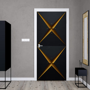 Retro Modern Geometric Door Mural - DoorTouch