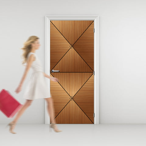CocoBolo Wood Door wallpaper - DoorTouch