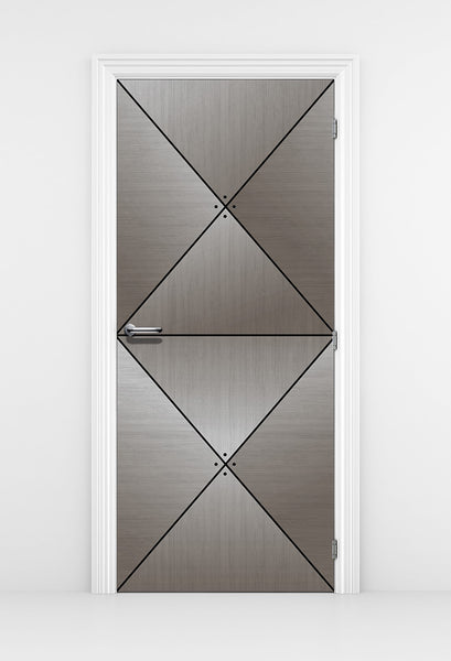 Grey Wood Door Diamond Panels - DoorTouch