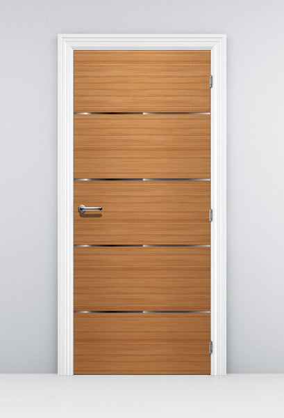 CocoBolo Corporate Office Door Mural - Honey Brown Door Wallpaper | Doortouch