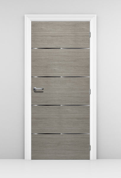 Grey wood Corporate Office Door Mural - Door Wallpaper Sticker