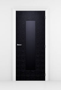 Geometric Blue Pattern Door Mural - DoorTouch