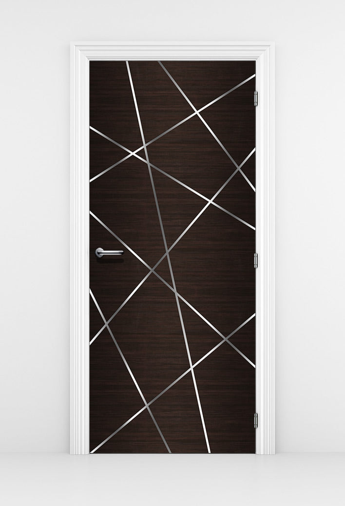 Birds Nest Dark Brown Door Mural - Door Sticker | DoorTouch
