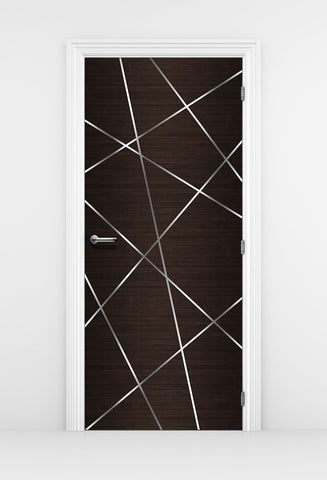 Birds Nest Dark Brown Door Mural - DoorTouch