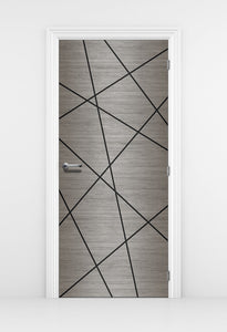 Grey Wood Wallpaper - Door Sticker | DoorTouch