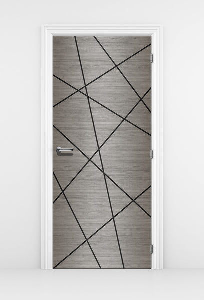 Grey Wood Wallpaper Birds Nest Design - DoorTouch
