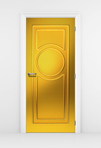 Classical French Gold Door Design Decal - Door Mural | DoorTouch