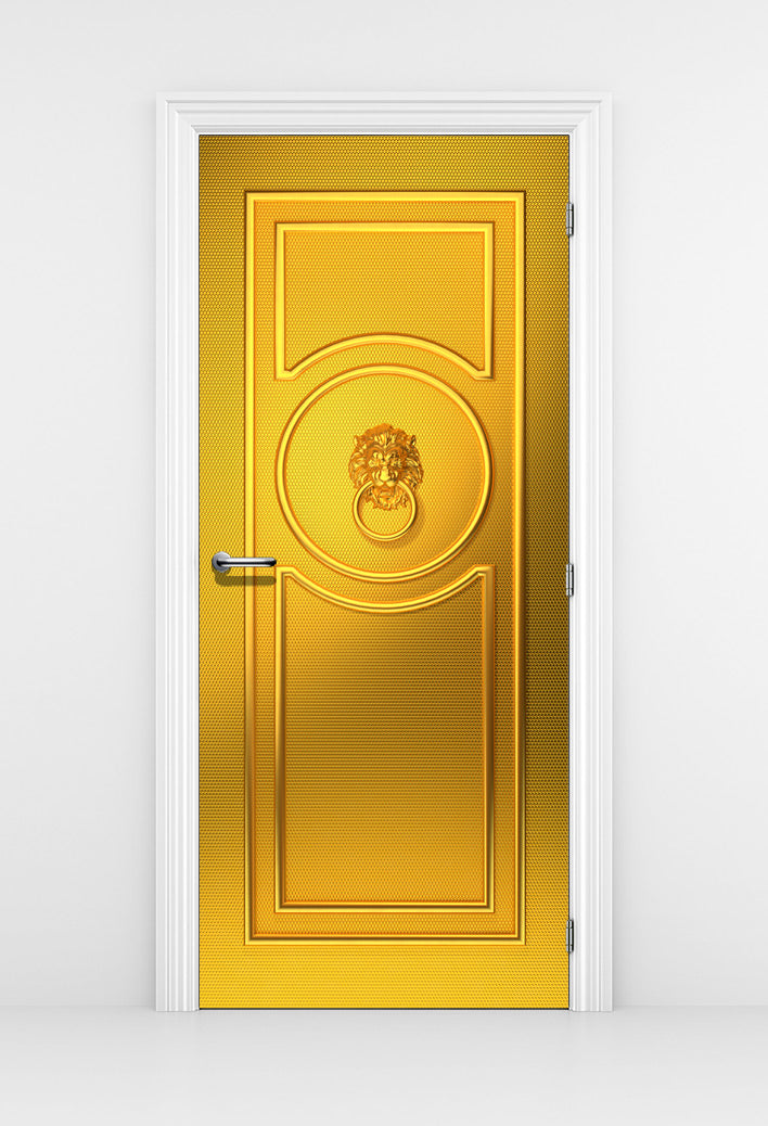 Classical French Gold Door Mural - DoorTouch