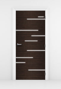 Hacienda Black Door Wallpaper light streaks - Modern Door | DoorTouch