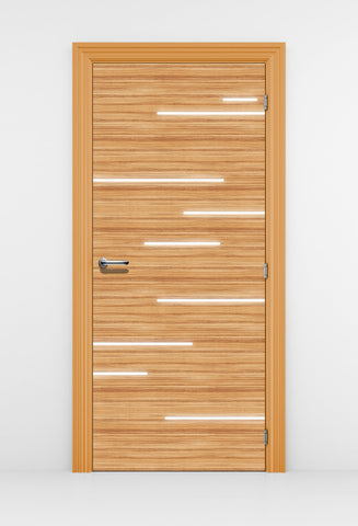CocoBolo Door Wallpaper with light streaks - Modern Door | DoorTouch