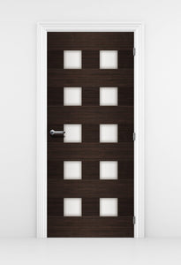 Mid Century Modern door Mural - Ark Wood and Glass Door design